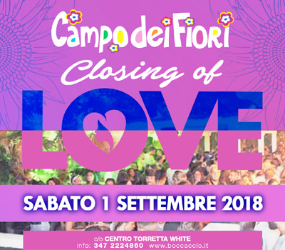 Campo dei Fiori - CLOSING OF LOVE - Boccaccio Club