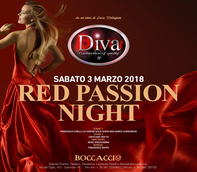DIVA - RED PASSION NIGHT - Boccaccio Club