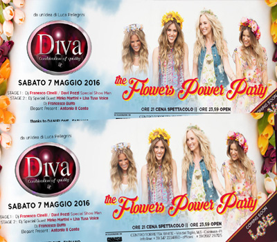 DIVA - THE FLOWERS POWER PARTY - Boccaccio Club